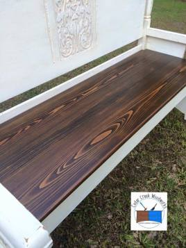 Repurposed Queen Headboard Bench with Cypress Seat